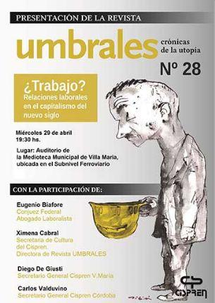 Villa María | El miércoles se presentará la revista Umbrales 28