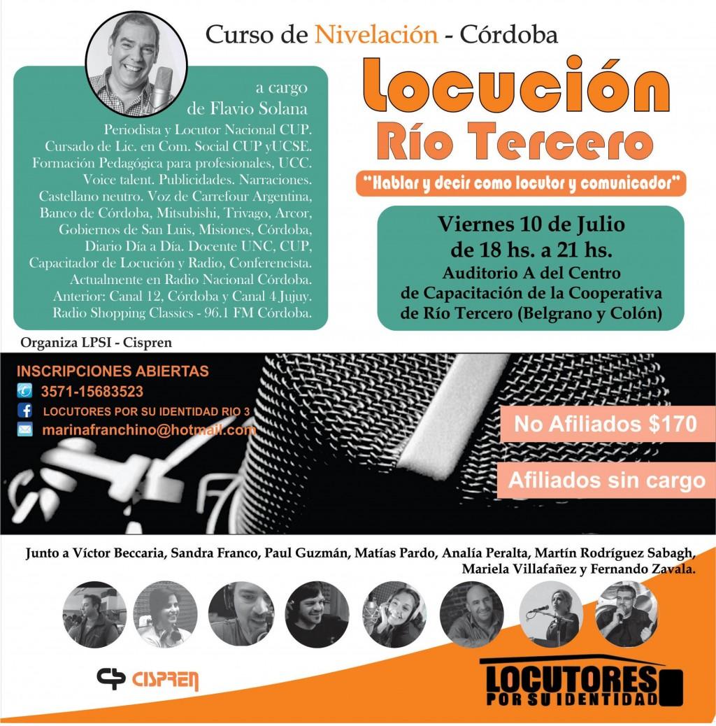 Curso de nivelación para locutores en Rio Tercero
