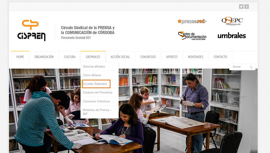Paritarias Prensa 2015| Nuevas escalas salariales para la provincia de Córdoba