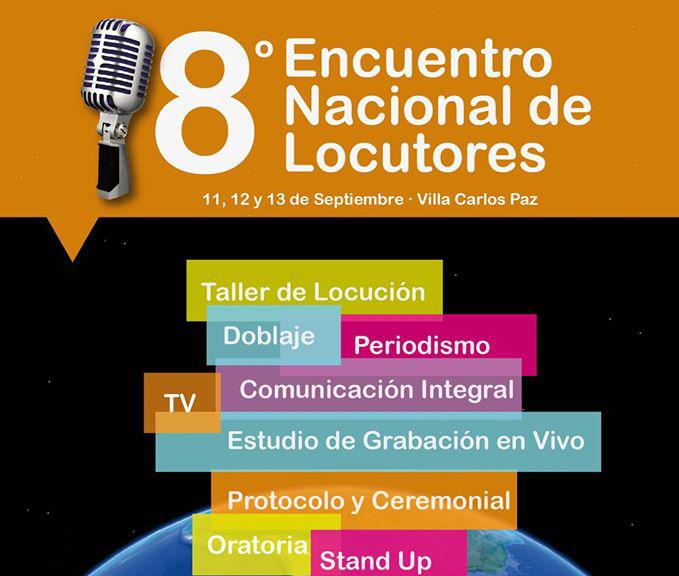 11,12 y 13/9 | Se viene el octavo Encuentro Nacional de Locutores en la Casona del CISPREN