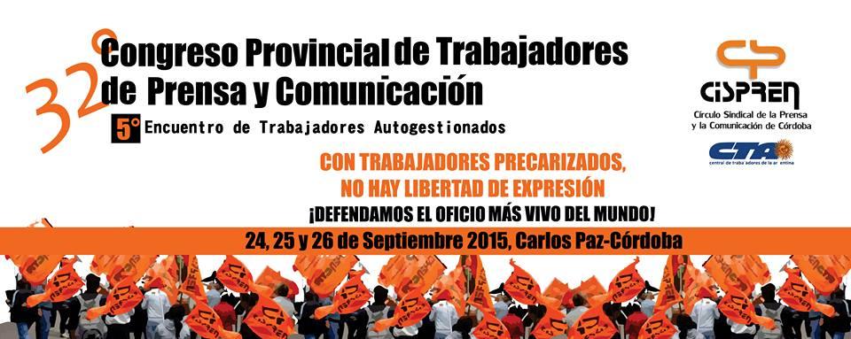 32º Congreso de Trabajadores de Prensa| Ya estamos cerca!