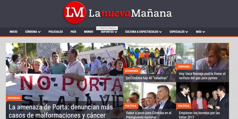 La primera tapa de La Nueva Mañana, un medio autogestionado por los extrabajadores de La Mañana de Córdoba. ¡Felicitaciones!