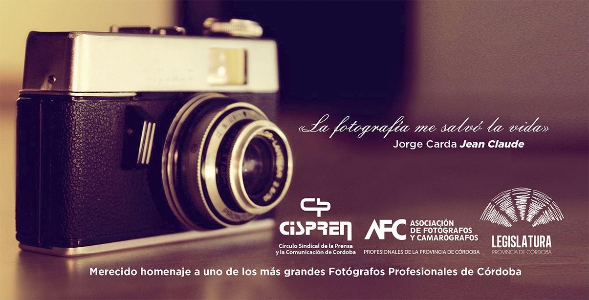 MAÑANA   Homenaje y muestra del fotógrafo Jean Claude en la Legislatura de Córdoba