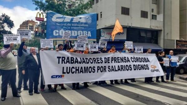 #NoNosAlcanza#QueSeSepa / El Cispren participa del paro en reclamo por salarios dignos para los trabajadores de prensa