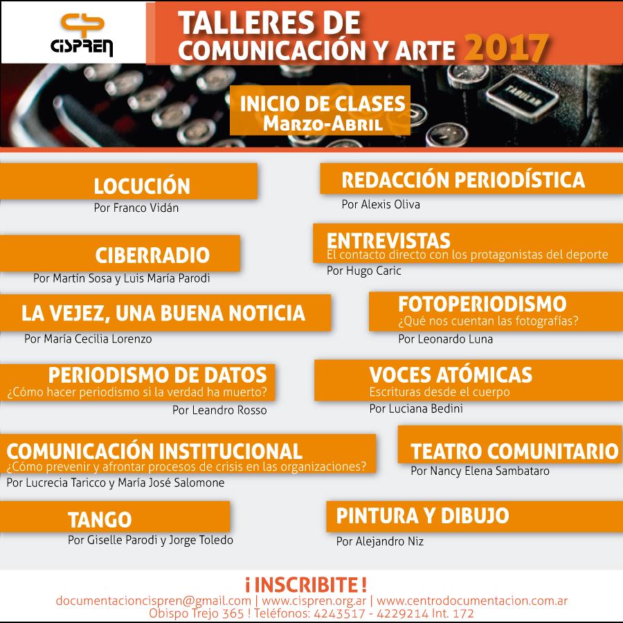 Talleres CISPREN 2017