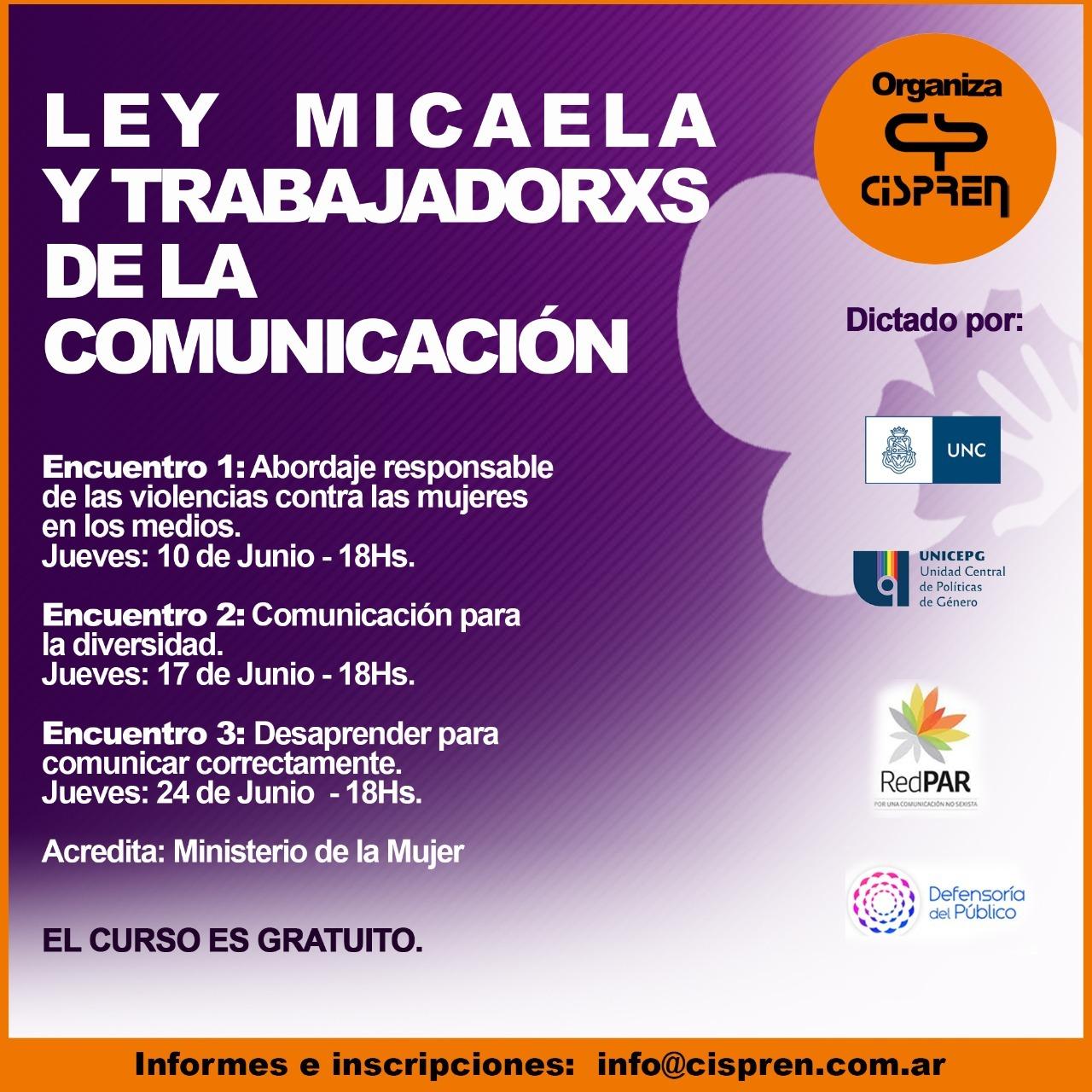 Ley Micaela y  trabajadorxs de la comunicación
