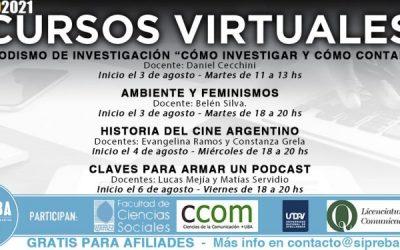Cursos virtuales: Propuestas para el mes de Agosto