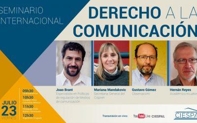 El Cispren participará del Seminario Internacional «Derecho a la comunicación» organizado por Ciespal