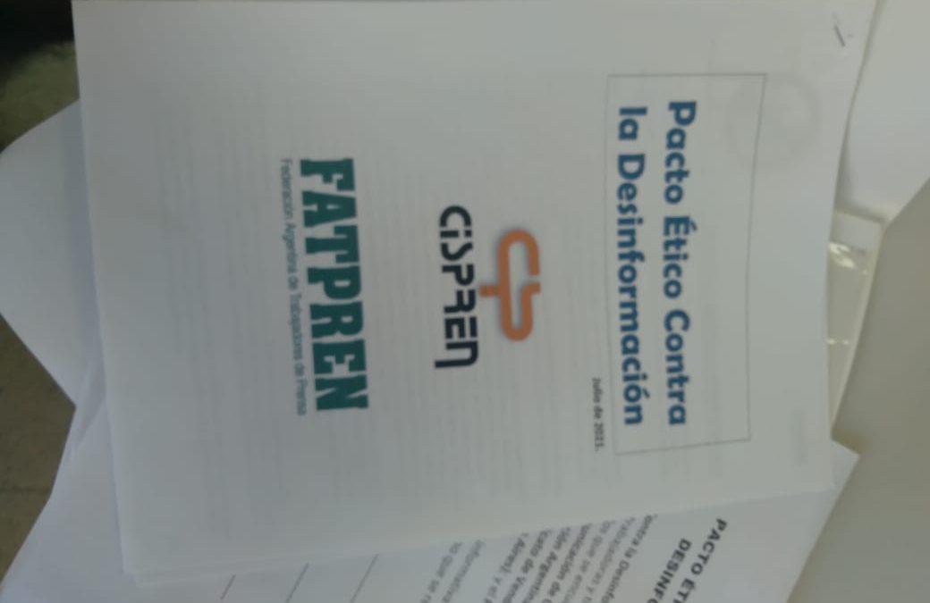 El Cispren presentó en el Concejo Deliberante el «Pacto Ético Contra la Desinformación»