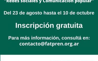 Capacitación en «Redes Sociales y Comunicación Popular»