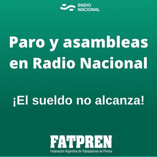 Paro en Radio Nacional