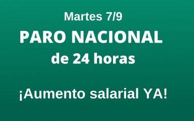 Martes 7/9: Paro General Nacional en Prensa Escrita por Salarios